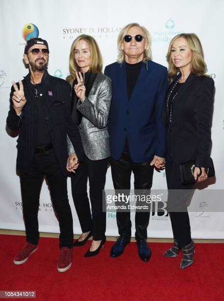 Ringo Starr Barbara Bach Starkey Joe Walsh and Marjorie Bach Walsh arrive at the Peggy Albrecht Friendly House's 29th Annual Awards Luncheon at The...