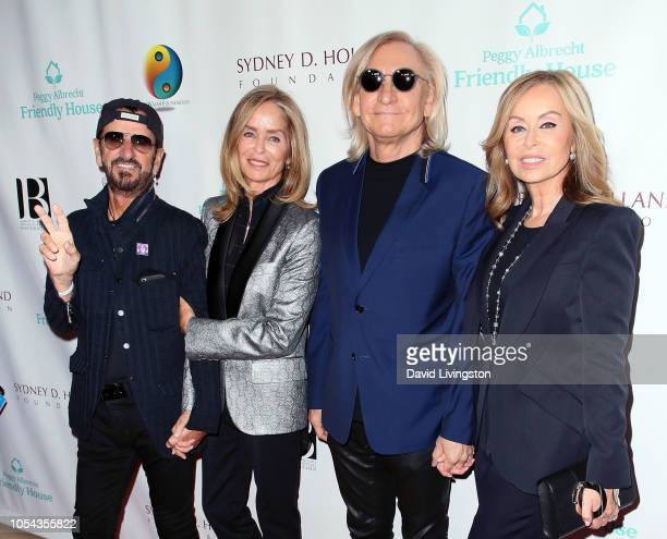 Ringo Starr Barbara Bach Starkey Joe Walsh and Marjorie Bach Walsh attend the Peggy Albrecht Friendly House's 29th Annual Awards Luncheon at The...