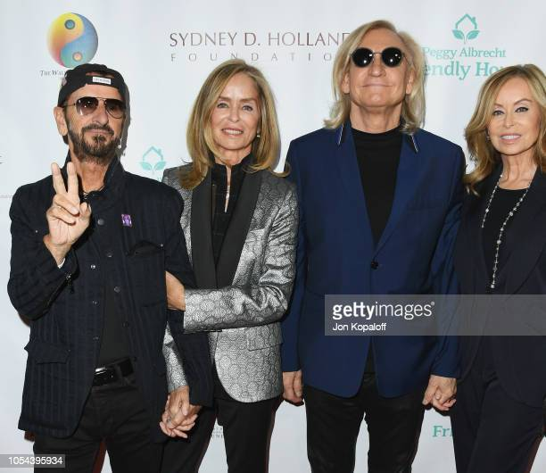 Ringo Starr Barbara Bach Starkey Joe Walsh and Marjorie Bach Walsh attend Peggy Albrecht Friendly House's 29th Annual Awards Luncheon at The Beverly...