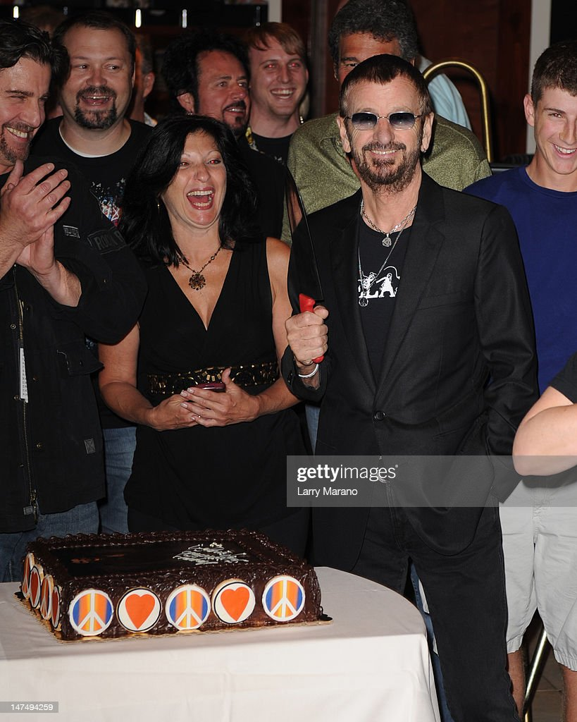 Ringo Starr celebrates his birthday at Hard Rock Cafe on June 30, 2012 in Hollywood, Florida.