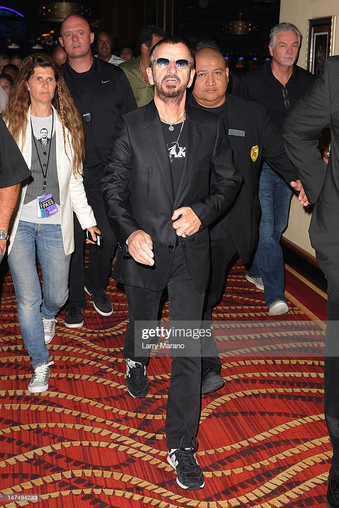 Ringo Starr displays his art work at Hard Rock Cafe on June 30, 2012 in Hollywood, Florida.