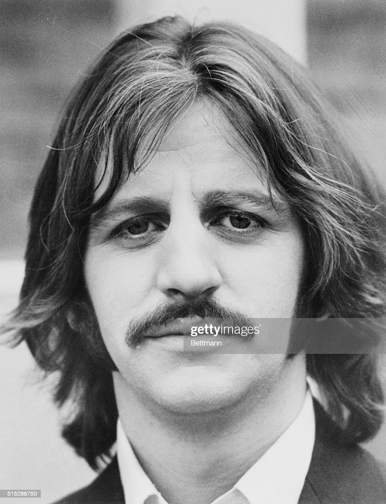 Ringo Starr Drummer For The Legendary British Pop Group Beatles Circa 1970