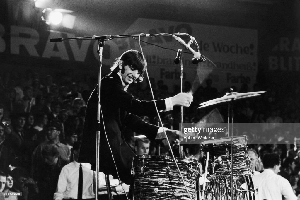 Ringo Starr Drumming With The Beatles On First Day Of Their Final World Tour