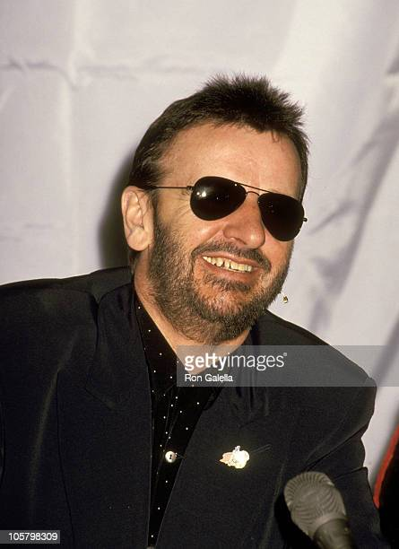 Ringo Starr during Ringo Starr's Press Conference for Upcoming Tour at Radio City Music Hall in New York City New York United States