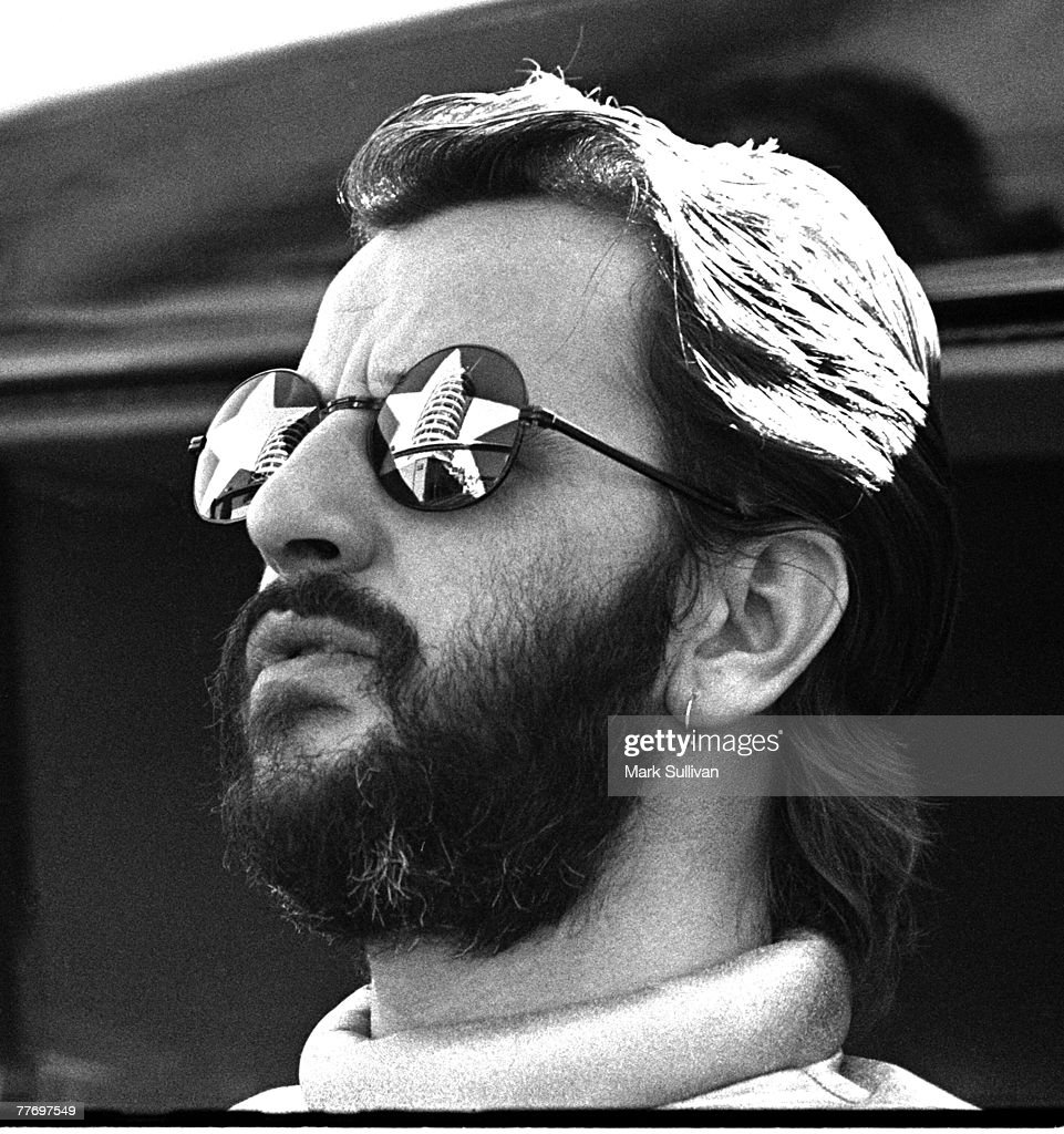 Ringo Starr during taping of commercial outside Capitol Records building in Hollywood, CA 1974; Various Locations; Mark Sullivan 70's Rock Archive; Hollywood; CA.