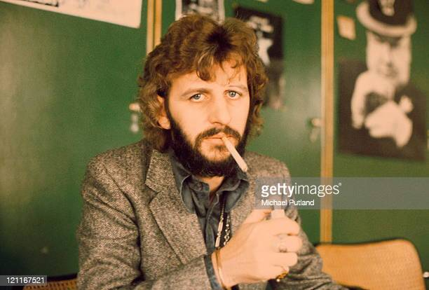 Ringo Starr, formerly of The Beatles, London, October 1973.