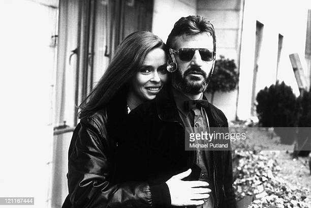 Ringo Starr formerly of the Beatles with his wife Barbara Bach London 1981