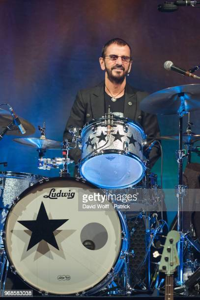 Ringo Starr from Ringo Starr and his all Start Band performs at L'Olympia on June 4 2018 in Paris France