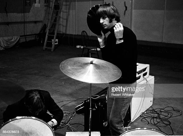 Ringo Starr is pictured at the Donmar Rehearsal Theatre central London during rehearsals for The Beatles upcoming UK tour November 1965