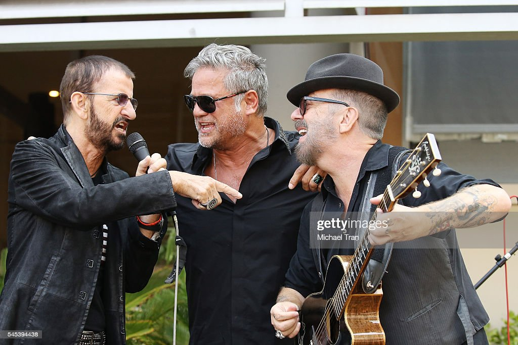 Ringo Starr Jon Stevens And David A Stewart Perform Onstage During The