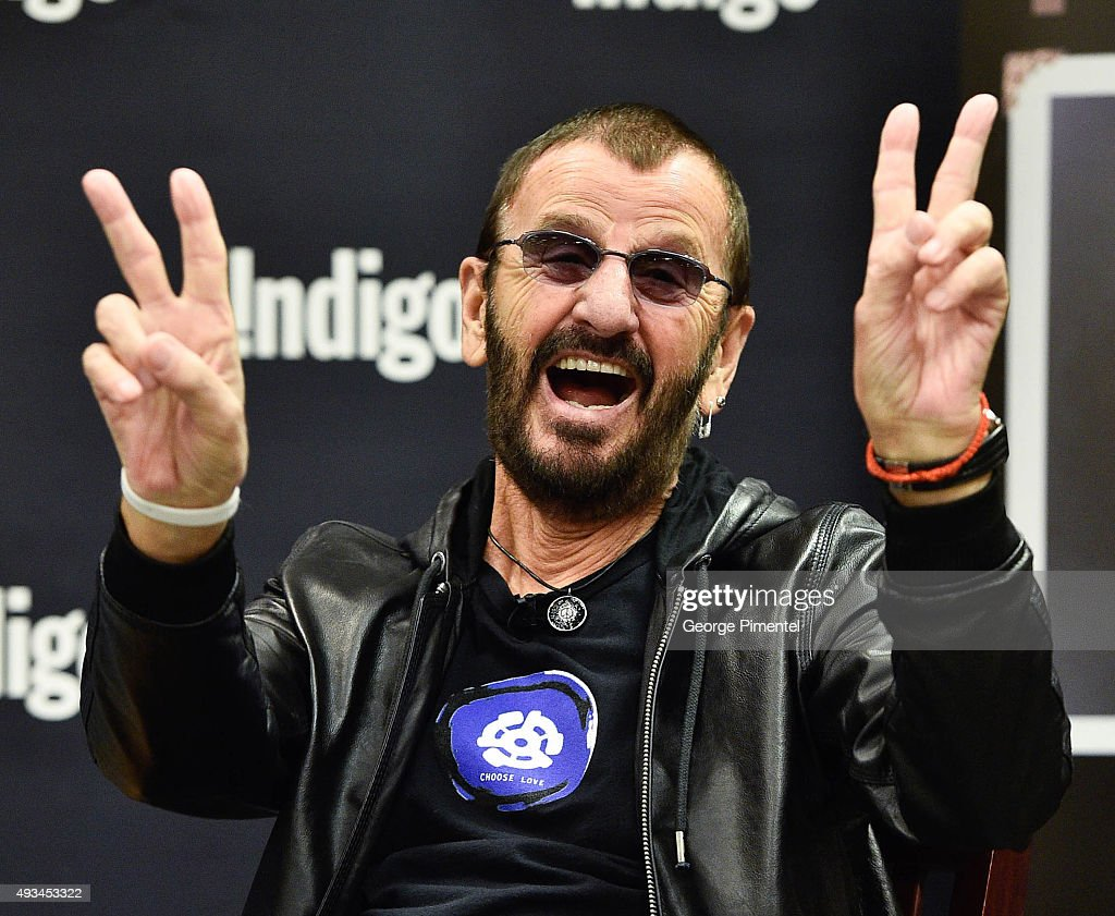 Ringo Starr launches his New Book 'Photograph' at Indigo Manulife Centre on October 20, 2015 in Toronto, Canada.