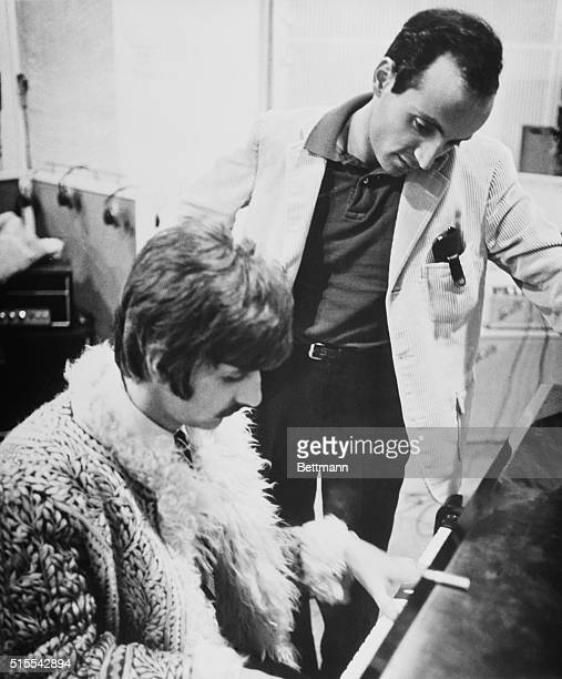 Ringo Starr of The Beatles and Dr Erich Segal associate professor at Yale University who wrote the script for The Beatles' new film Yellow Submarine