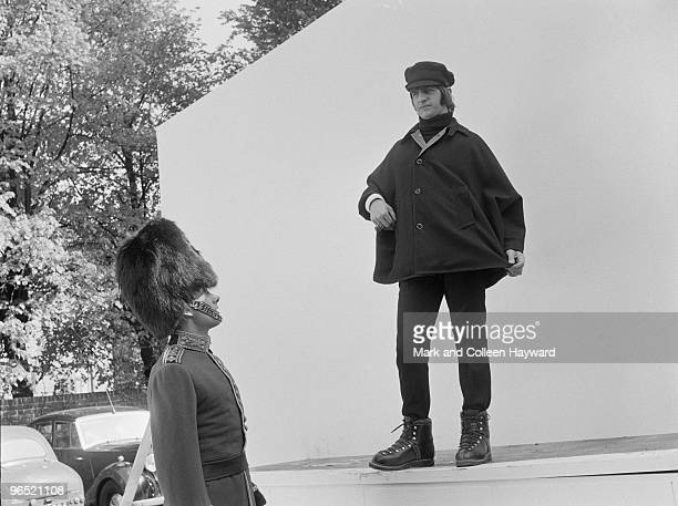 Ringo Starr of the Beatles with actor Victor Spinetti at Twickenham Studios London during a photoshoot to complete the cover of the Beatles' album...