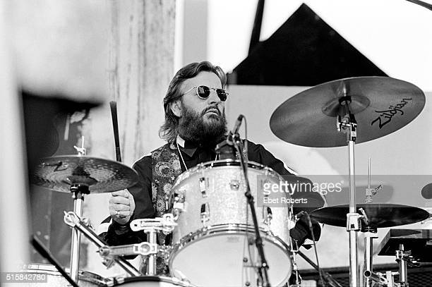 Ringo Starr performing with Don Was at Farm Aid 1993 in Ames Iowa on April 24 1993