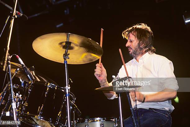 Ringo Starr performing with the Beach Boys in Miami Florida on July 4 1984
