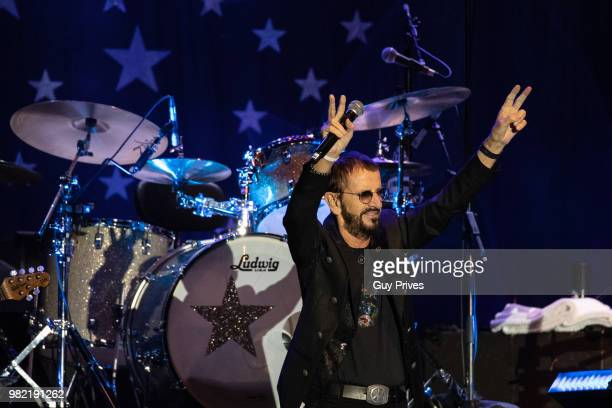 Ringo Starr performs at Menora Mivtachim Arena on June 23 2018 in Tel Aviv Israel