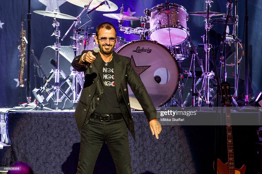 Ringo Starr performs at Nob Hill Masonic Center on October 1, 2015 in San Francisco, California.