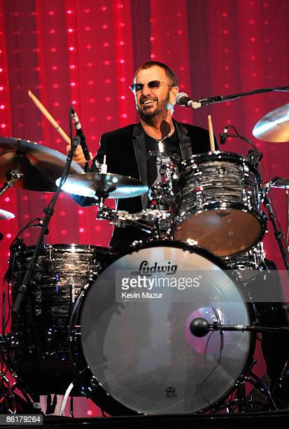 Ringo Starr performs at the David Lynch Foundation 'Change Begins Within' show at Radio City Music Hall on April 4 2009 in New York City