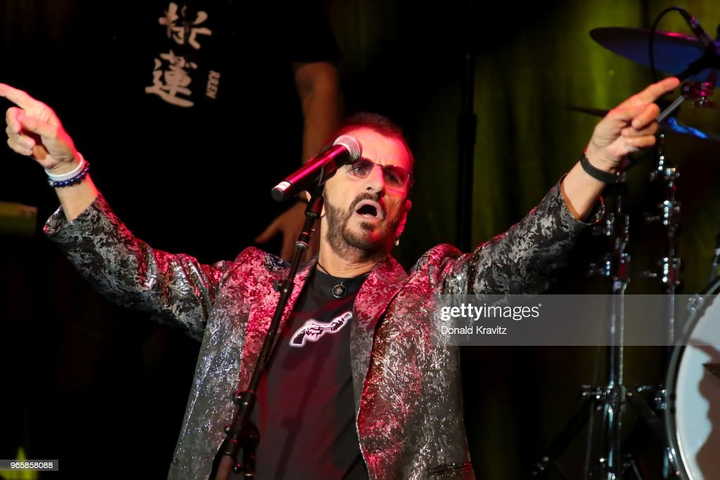 Ringo Starr performs in concert at Music Box at the Borgata on June 1, 2018 in Atlantic City, New Jersey.