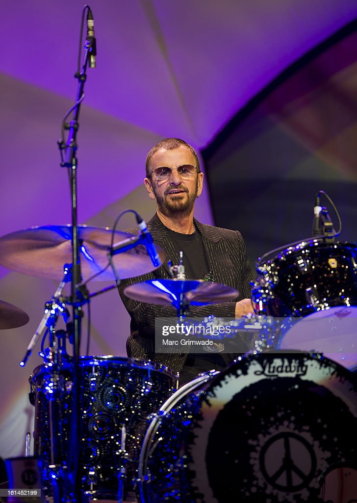 Ringo Starr Performs Live On Stage At The Brisbane Convention Exhibition Centre February 11