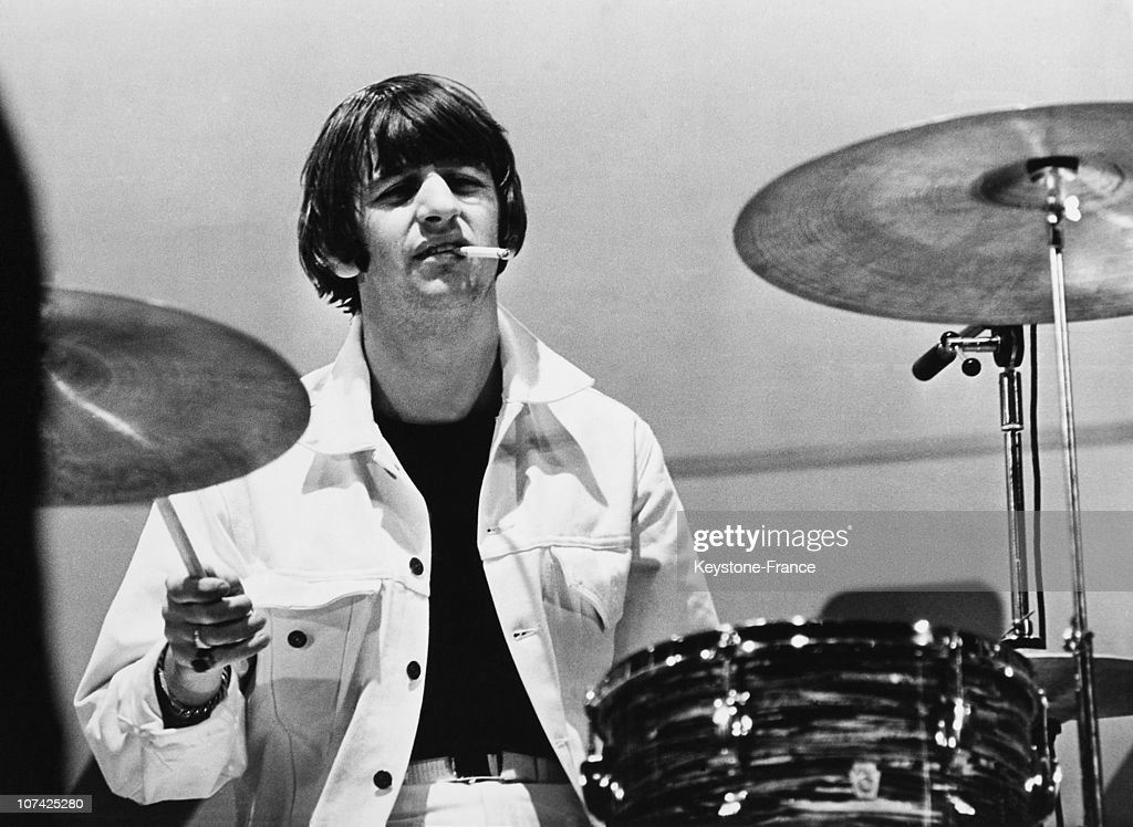 Ringo Starr Playing Drums At London In England On August 2Nd 1965 : News Photo