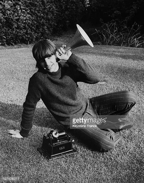 Ringo Starr Sitting In A Garden During Sixties