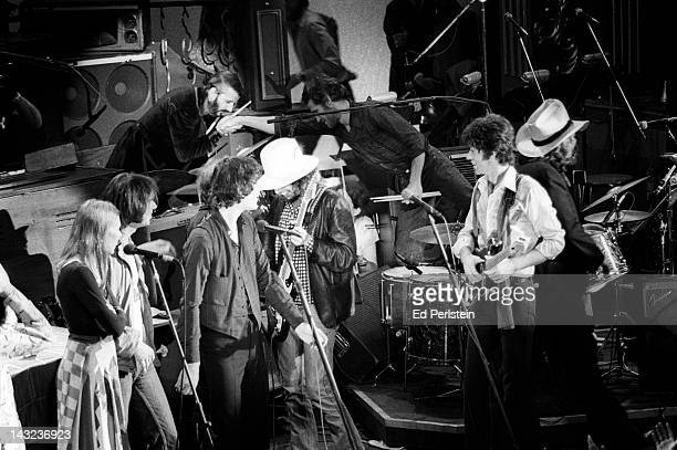 Ringo Starr thanks Levon Helm for a great performance as The Last Waltz concludes at Winterland in November 1976 in San Francisco California Also on...