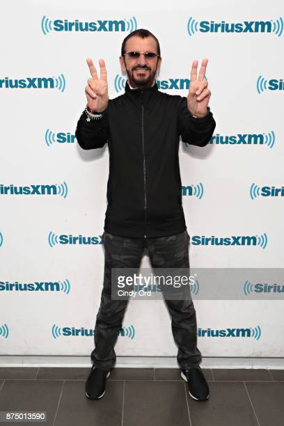 Ringo Starr visits the SiriusXM Studio on November 15, 2017 in New York City.