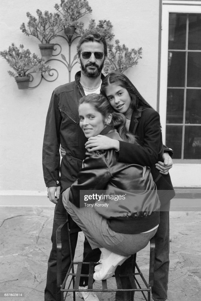 Ringo Starr with His Wife Barbara Bach and her daughter Francesca Gregorini, circa 1981.