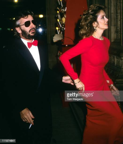 Ringo Starr with wife Barbara Bach during Ringo Starr at the Royal Albert Hall November 16 1985 in London Great Britain