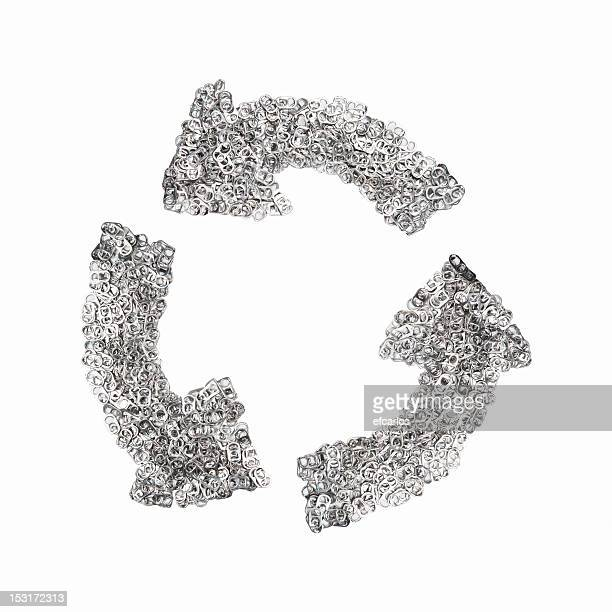 Ring-pulls on the shape of a recycling symbol