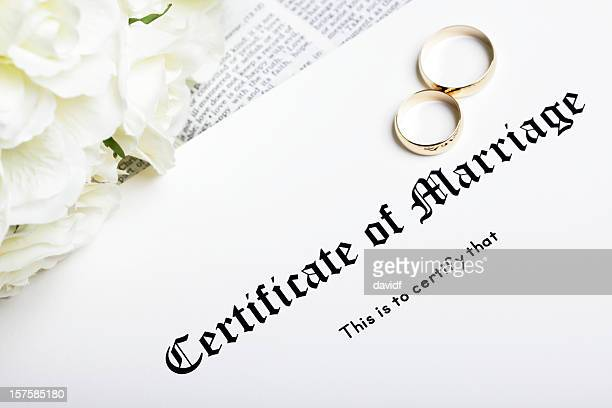 marriage certificate stock photos and pictures getty images