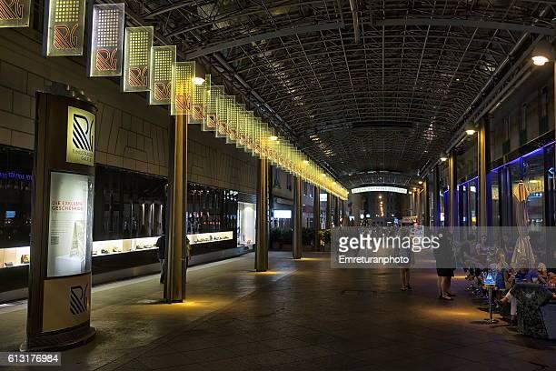 ringstrasse gallery at night - emreturanphoto fotografías e imágenes de stock