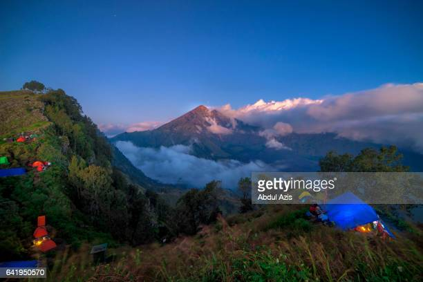 Rinjani Mountain Bluehour from Pananjakan Senaru - Indonesia