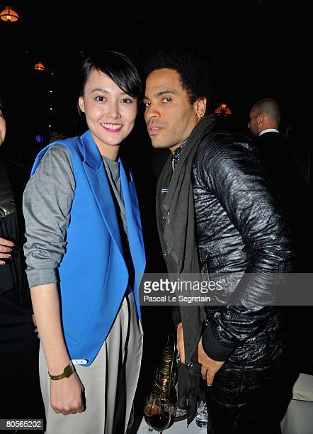 Rinko Kikuchi and Lenny Kravitz attend 'The Crossing' gala event hosted by IWC Schaffhausen held at the Geneva Palaexpo on April 8 2008 in Geneva...