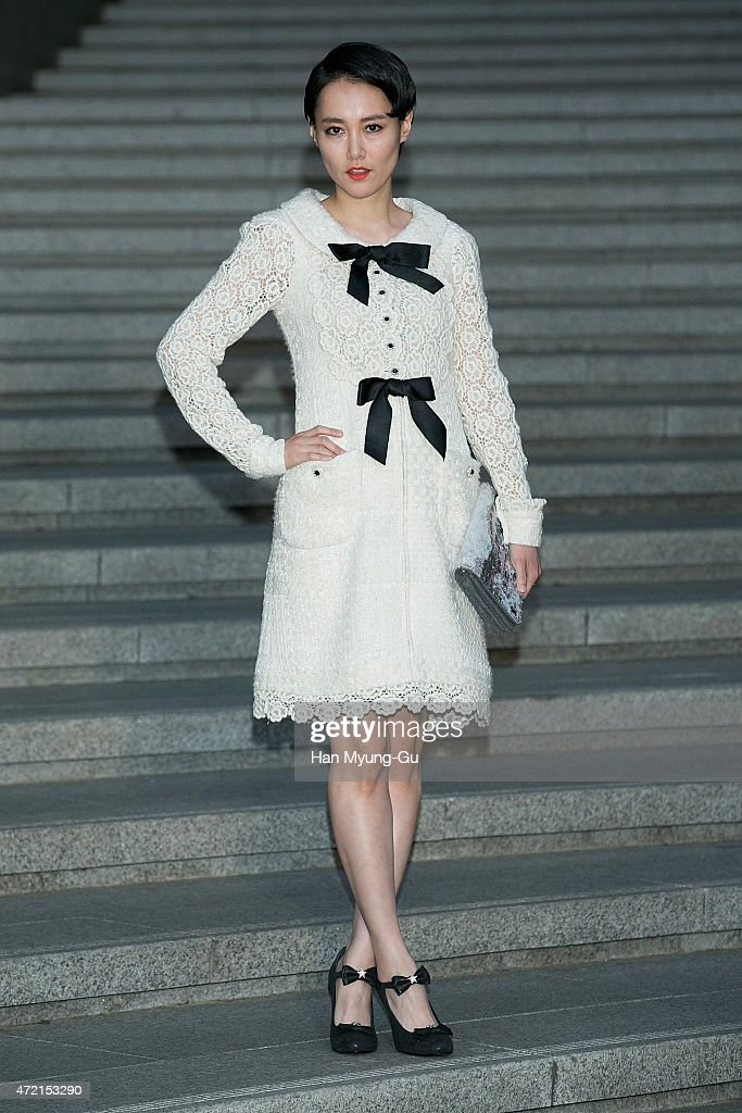 Rinko Kikuchi attends the Chanel 2015/16 Cruise Collection show on May 4, 2015 in Seoul, South Korea.