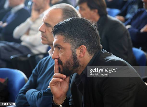 Rino Gattuso of Pisa attends at Italian Football Federation 'Panchine D'Oro E D'Argento' Prize at Coverciano on March 27 2017 in Florence Italy
