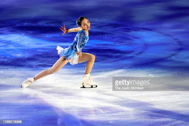 Rino Matsuike performs in the Gala Exhibition during day three of the ISU Grand Prix of Figure Skating NHK Trophy at Towa Pharmaceutical RACTAB Dome...