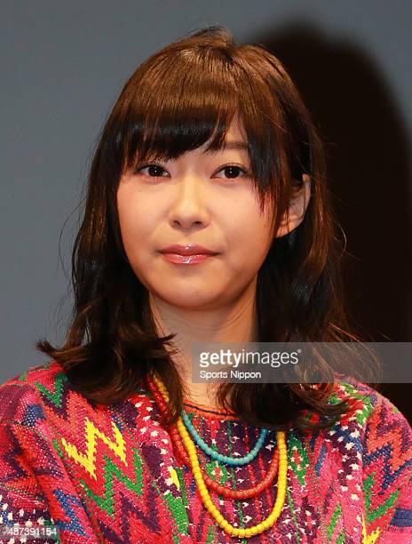Rino Sashihara of HKT 48 attends the Premiere of 'Crayon Shinchan' on April 5 2015 in Tokyo Japan