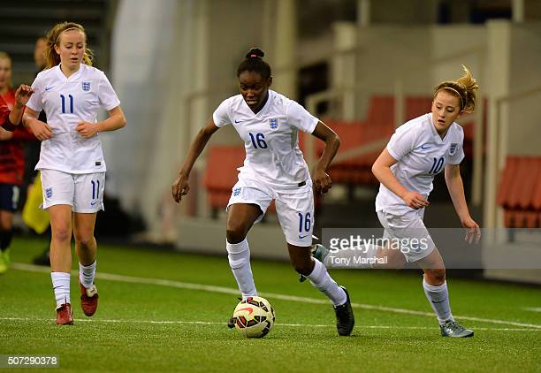 Rinsola Babajide of England during the U19 Women's Friendly match between England U19 Women and Norway U19 Women at St Georges Park on January 26...