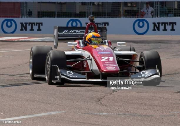 Rinus VeeKay during the Indy Lights Race of St Petersburg on March 9 at the Streets of St Petersburg in St Petersburg FL