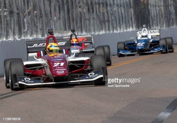 Rinus VeeKay during the start of the Indy Lights Race of St Petersburg on March 9 in St Petersburg FL