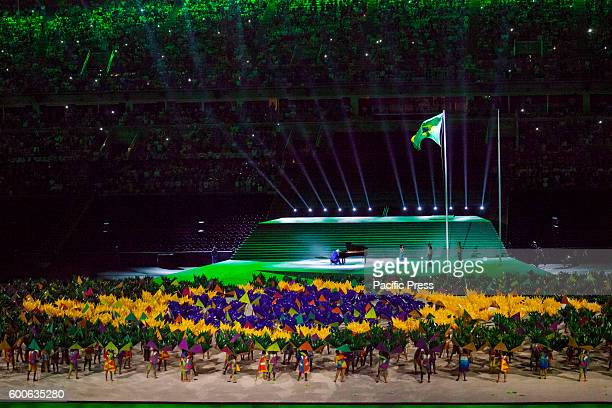 Rio 2016 Paralympic Games a moment of the opening ceremony held in Stadio Maracana of Rio de Janeiro