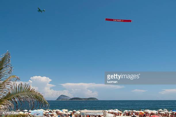 Rio - airplane pulling an advertising sign