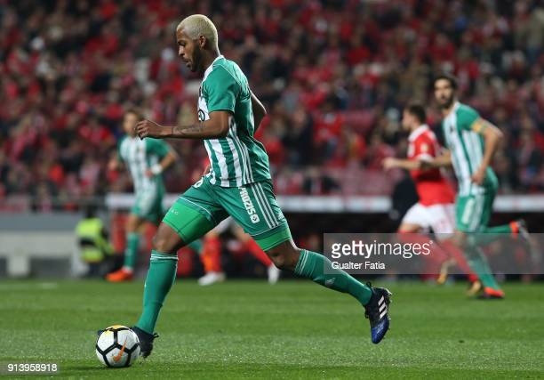 Rio Ave FC defender Marcao from Brazil in action during the Primeira Liga match between SL Benfica and Rio Ave FC at Estadio da Luz on February 3...