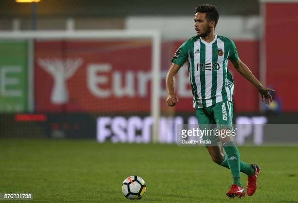 Rio Ave FC defender Nelson Monte from Portugal in action during the Primeira Liga match between GD Estoril Praia and Rio Ave FC at Estadio Antonio...