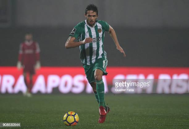 Rio Ave FC defender Nelson Monte from Portugal in action during the Primeira Liga match between Rio Ave FC and Boavista FC at Estadio dos Arcos on...