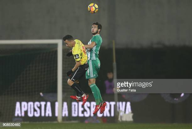 Rio Ave FC defender Nelson Monte from Portugal with Boavista FC midfielder Fabio Espinho from Portugal in action during the Primeira Liga match...