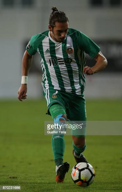 Rio Ave FC forward Helder Guedes from Portugal in action during the Primeira Liga match between GD Estoril Praia and Rio Ave FC at Estadio Antonio...