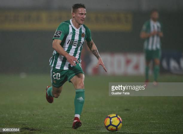 Rio Ave FC forward Nuno Santos from Portugal in action during the Primeira Liga match between Rio Ave FC and Boavista FC at Estadio dos Arcos on...